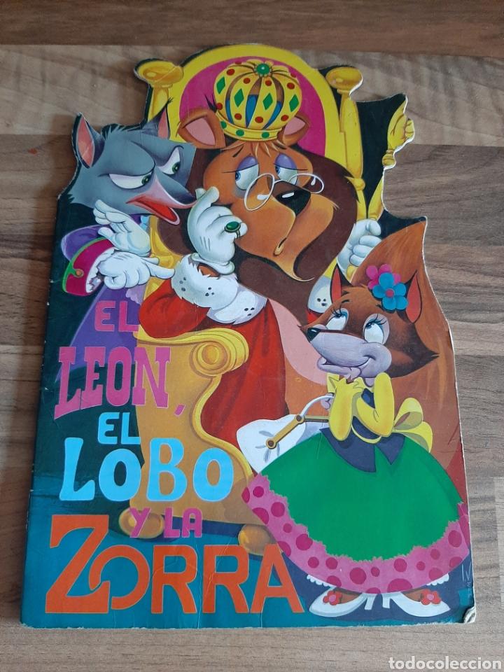CUENTO TROQUELADO EL LEÓN EL LOBO Y LA ZORRA (Libros de Segunda Mano - Literatura Infantil y Juvenil - Cuentos)