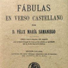 Libros de segunda mano: FÁBULAS EN VERSO CASTELLANO / FÉLIX MARÍA SAMANIEGO. MAXTOR, 2001. FACS. DE: SATURNINO CALLEJA, 1902. Lote 285107258