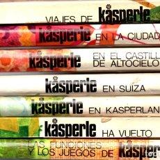 Libros de segunda mano: COLECCIÓN COMPLETA 7 LIBROS KASERPLE - JOSEPHINE SIEBE - EDITORIAL NOGUER 1970-1975. Lote 287845568