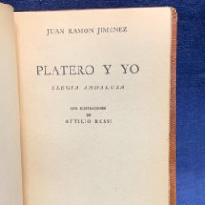 Libros de segunda mano: LIBRO PLATERO Y YO JUAN RAMON JIMENEZ ILUSTRACIONES ATTILIO ROSSI 1929 PIEL 17X11,5CMS. Lote 287916198