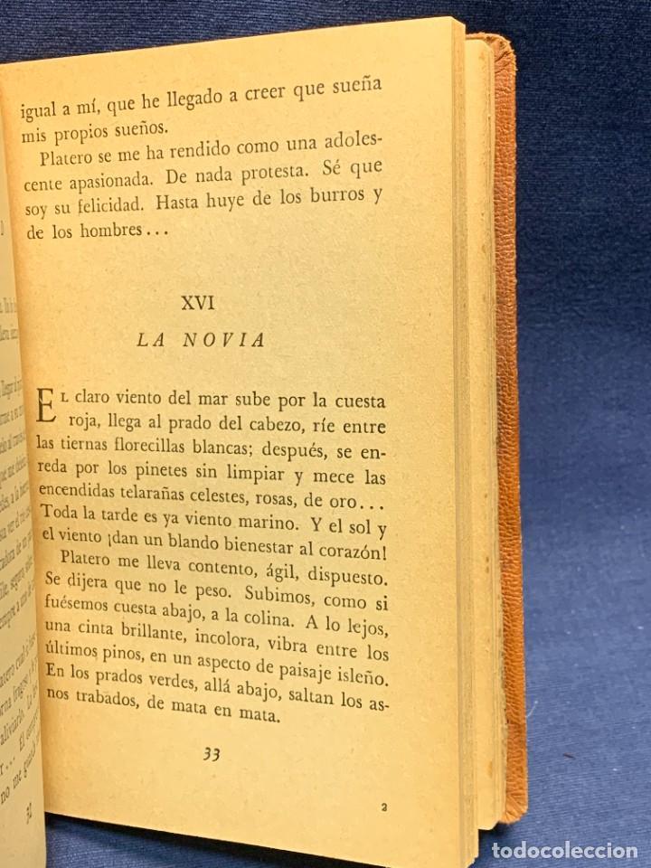 Libros de segunda mano: LIBRO PLATERO Y YO JUAN RAMON JIMENEZ ILUSTRACIONES ATTILIO ROSSI 1929 PIEL 17X11,5CMS - Foto 6 - 287916198