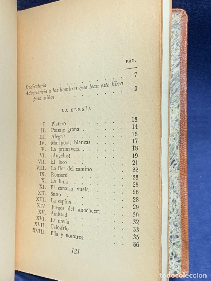 Libros de segunda mano: LIBRO PLATERO Y YO JUAN RAMON JIMENEZ ILUSTRACIONES ATTILIO ROSSI 1929 PIEL 17X11,5CMS - Foto 8 - 287916198