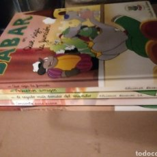 Libros de segunda mano: 5 LIBROS DE BABAR.CIRCULO DE LECTORES.. Lote 289759933