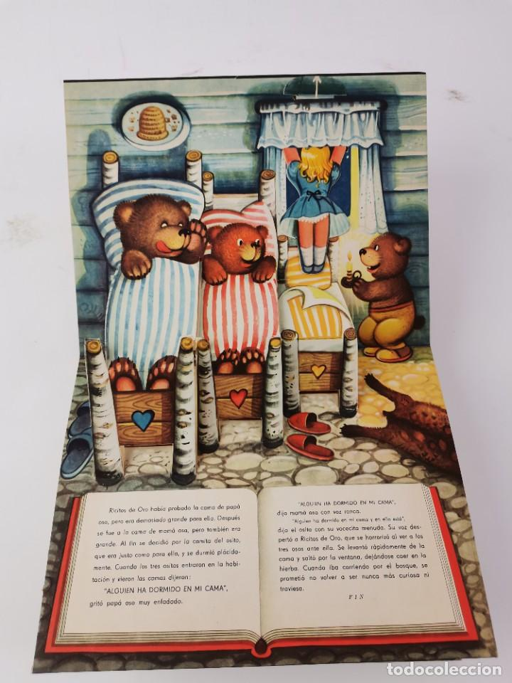 Libros de segunda mano: L-959. CUENTO TROQUELADO CON DIORAMAS RICITOS DE ORO Y LOS TRES OSITOS. BANCROFT & CO. - Foto 5 - 289311453
