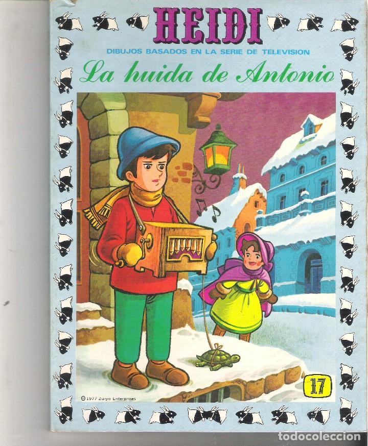 1 LIBRO HEIDI AÑO 1976 - Nº 17 - LA HUIDA DE ANTONIO - EDICIONES RECREATIVAS (Libros de Segunda Mano - Literatura Infantil y Juvenil - Cuentos)