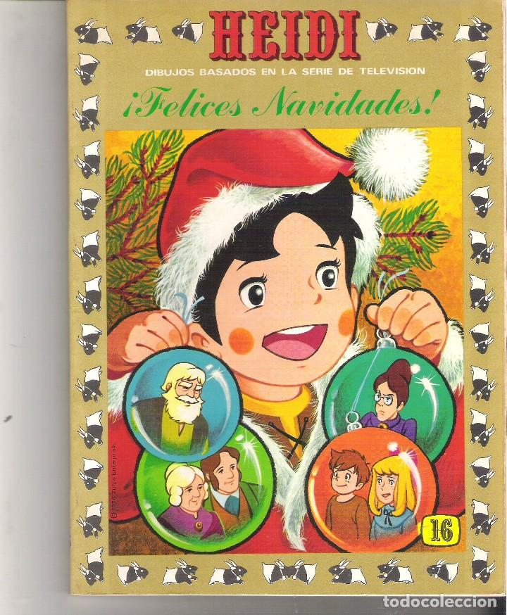 1 LIBRO HEIDI AÑO 1976 - Nº 16 - FELICES NAVIDADES - EDICIONES RECREATIVAS (Libros de Segunda Mano - Literatura Infantil y Juvenil - Cuentos)
