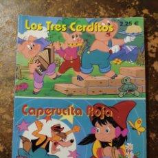 Libros de segunda mano: COLECCIÓN CUENTOS DE SIEMPRE: LOS TRES CERDITOS, CAPERUCITA ROJA (GRUPO EDIDER, ASTURIAS). Lote 296909573