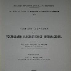 Libros de segunda mano: VERSIÓN ESPAÑOLA DEL VOCABULARIO ELECTRÓNICO INTERNACIONAL.. Lote 25867236