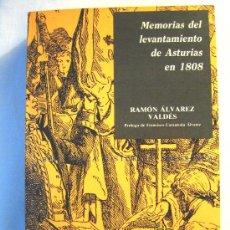 Libros de segunda mano: MEMORIAS DEL LEVANTAMIENTO DE ASTURIAS EN 1808. RAMON ALVAREZ VALDES, REEDITADO EN GIJON EN 1988.. Lote 25942131