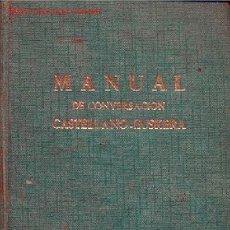Libros de segunda mano: LOPEZ MENDIZABAL, ISAAC.- MANUAL DE CONVERSACION CASTELLANO EUSKERA. Lote 25101086