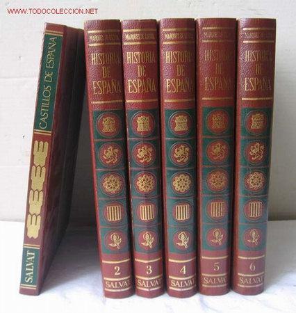 6 TOMOS .. HISTORIA DE ESPAÑA. .......... CASTILLO DE ESPAÑA........... (Libros de Segunda Mano - Cursos de Idiomas)