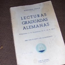Libros de segunda mano: LECTURAS GRADUADAS ALEMANAS. BERNARDO FUNCK. 5º BACHILLERATO. 1942. PALMA DE MALLORCA.. Lote 10112773
