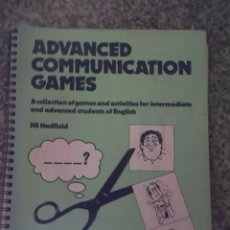 Libros de segunda mano: ADVANCED COMMUNICATION GAMES, POR JILL HADFIELD - EDITORIAL NELSON - ENGLAND. Lote 26672290