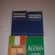 Libros de segunda mano: LOTE DE 4 DICCIONARIOS DE BOLSILLO (FRANCÉS (2 TOMOS), ALEMÁN E ITALIANO. Lote 26713112
