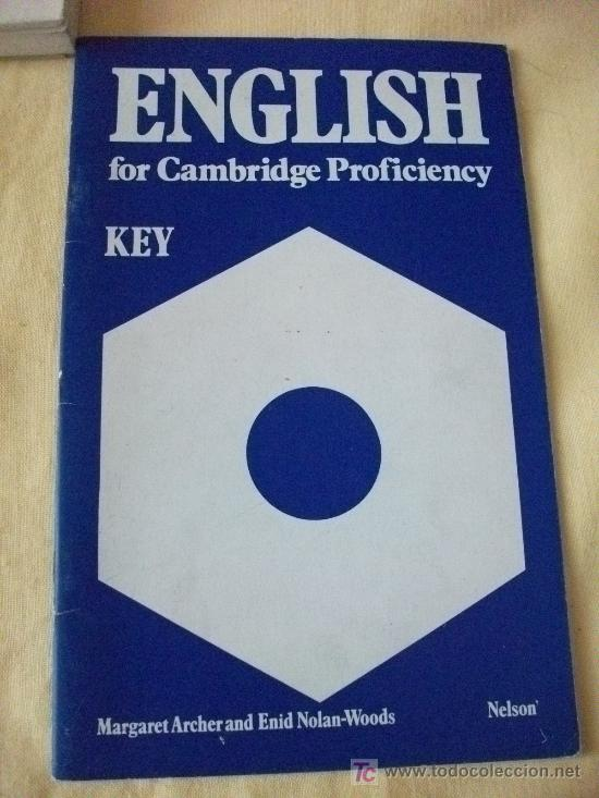 ENGLISH FOR CAMBRIDGE CERTIFICATE - KEY BOOK - IGUAL A NUEVO (Libros de Segunda Mano - Cursos de Idiomas)