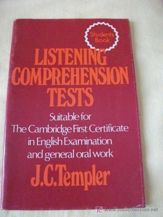 LISTENING COMPREHENSION TESTS- J.C.TEMPLER HEINEMAN(CAMBRIDGE FIRST CERTIFICATE) (Libros de Segunda Mano - Cursos de Idiomas)