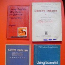 Libros de segunda mano: LOTE 4 LIBROS DE TEXTO LENGUA INGLESA AÑOS 40, 50 Y 70. (ENGLISH BOOKS). Lote 38452119