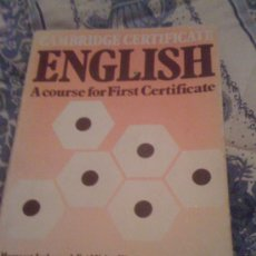 Libros de segunda mano: 'CAMBRIDGE CERTIFICATE ENGLISH'. EDITORIAL NELSON. 1979.. Lote 20824078