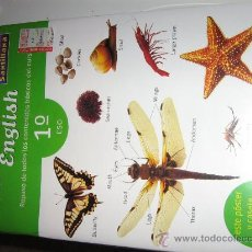 Libros de segunda mano: CURSO INGLES SANTILLANA 1º DE ESO. CON CASSETTE, LIBRO, POSTER,PEGATIN. PRECINTADO NUEVO A ESTRENAR.. Lote 27406358