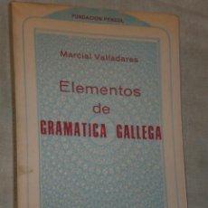 Libros de segunda mano: ELEMENTOS DE GRAMÁTICA GALLEGA.. Lote 24390357
