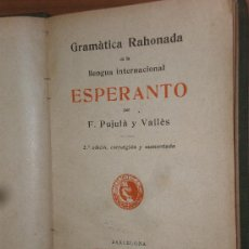 Libros de segunda mano: F. PUJULA Y VALLÉS GRAMATICA RAHONADA (ESPERANTO) BARCELONA 1909 BIBLIOTECA JOVENTUT 2ª EDICIO. Lote 28090003
