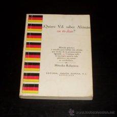 Libros de segunda mano: ¿ QUIERE USTED SABER ALEMAN EN 10 DIAS ? - EDIT. RAMON SOPENA - 1974. Lote 28634906