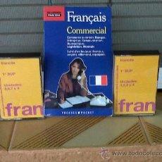 Libros de segunda mano: DOS CINTAS DE CASETTE MAS 1 LIBRO DE FRANCES COMERCIAL. Lote 29168905
