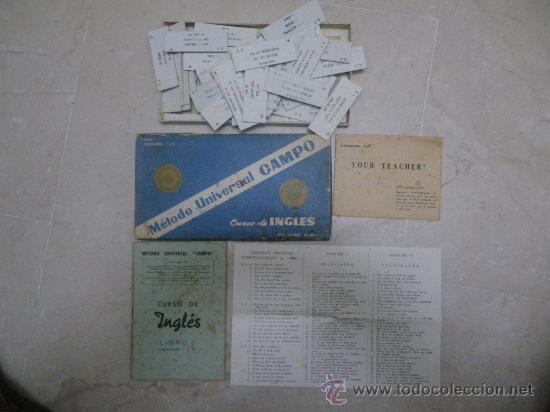 CURSO DE INGLÉS. MÉTODO UNIVERSAL CAMPO. LIBRO I,LECCIONES I Y II. 1960. CON CARTONES ESPAÑOL-INGLÉ (Libros de Segunda Mano - Cursos de Idiomas)