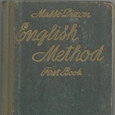 Libros de segunda mano: MASSE DIXON ENGLISH METHOD FIRST BOOK CURSO PRACTICO. Lote 30641931