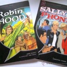 Libros de segunda mano: ROBIN HOOD (2001)Y SALLY'S PHONE (2003) - 2 LIBROS DE INGLES PARA PRINCIPIANTES. Lote 31635447