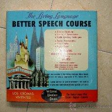 Libros de segunda mano: CURSO INGLES LOS IDIOMAS VIVIENTES. THE LIVING LANGUAGE. BETTER SPEECH COURSE. Lote 32702800