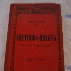 Libros de segunda mano: METODO DE INGLES - THE NEW BRITISH METHOD. 1.946. Lote 32816410
