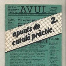 Libros de segunda mano: APUNTS DE CATALÀ PRÀCTIC 2. DIARI AVUI. 1982.. Lote 37322515