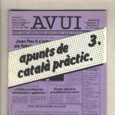 Libros de segunda mano: APUNTS DE CATALÀ PRÀCTIC 3. DIARI AVUI. 1982.. Lote 37322538