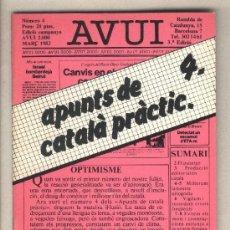 Libros de segunda mano: APUNTS DE CATALÀ PRÀCTIC 4. DIARI AVUI. 1982.. Lote 37332655