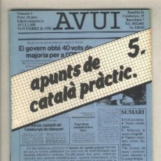 Libros de segunda mano: APUNTS DE CATALÀ PRÀCTIC 5. DIARI AVUI. 1982.. Lote 37332695