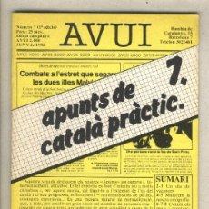 Libros de segunda mano: APUNTS DE CATALÀ PRÀCTIC 7. DIARI AVUI. 1982.. Lote 37349462