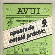 Libros de segunda mano: APUNTS DE CATALÀ PRÀCTIC 9. DIARI AVUI. 1982.. Lote 37350136
