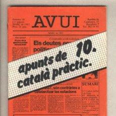 Libros de segunda mano: APUNTS DE CATALÀ PRÀCTIC 10. DIARI AVUI. 1983.. Lote 37350361