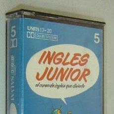 Libros de segunda mano: CURSO IDIOMAS-CASSETTE Nº5 (UNITS 17-20)-INGLES JUNIOR-CURSO DE INGLÉS-BBC SALVAT 1978. Lote 37562002