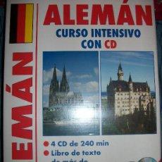 Libros de segunda mano: LIBRO + 4 CDS - ALEMAN - CURSO INTENSIVO - 200 PAGINAS - 240 MINUTOS - PRECINTADO. Lote 39190242