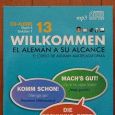 Libros de segunda mano: CD-AUDIO 13 WILLKOMMEN EL ALEMÁN A SU ALCANCE. VAUGHAN, EL MUNDO.. Lote 39352623