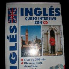 Libros de segunda mano: LIBRO + 4 CDS - INGLES - CURSO INTENSIVO - 200 PAGINAS - 240 MINUTOS - PRECINTADO. Lote 39190229