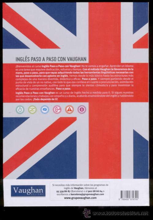 Libros de segunda mano: INGLÉS PASO A PASO CON VAUGHAN. EL INGLÉS EFICAZ. LIBRO 01. 3 NIVELES: BASICO, INTERMEDIO, AVANZADO - Foto 2 - 40712740