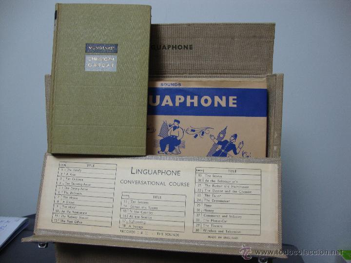 CURSO DE INGLES, LINGUAPHONE, COMPLETO DISCOS Y LIBRO (Libros de Segunda Mano - Cursos de Idiomas)