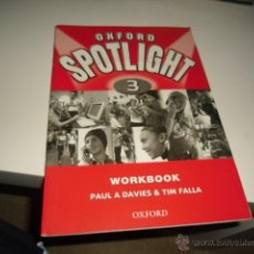 Libros de segunda mano: OXFORD SPOTLIGHT 3 WORKBOOK PAUL DAVIES TIM FALLA. Lote 42374929