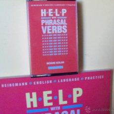 Libros de segunda mano: CURSO INGLÉS .HELP WITH PHRASAL VERBS .RICHARD HACKLAM. CON CASSETTE. IDIOMAS.. Lote 42857501