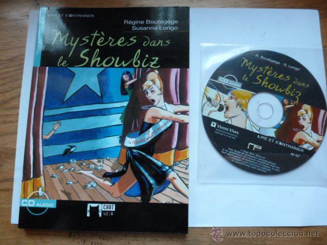 LIBRO MAS CD MYSTERES DANS LE SHOWBIZ. REGINE BOUTEGEGE. CHAT NOIR (Libros de Segunda Mano - Cursos de Idiomas)