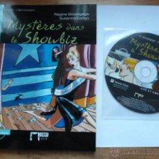Libros de segunda mano: LIBRO MAS CD MYSTERES DANS LE SHOWBIZ. REGINE BOUTEGEGE. CHAT NOIR. Lote 45055361