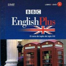 Libros de segunda mano: BBC ENGLISH PLUS LIBRO + DVD TOMOS 1 AL 7. Lote 219120026